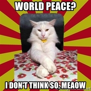 Dictator Cat - world peace? i don't think so, meaow