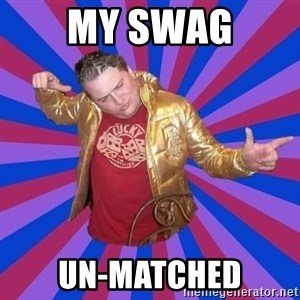 Gold Jacket Guy - my swag un-matched