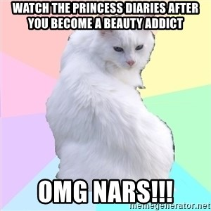 Beauty Addict Kitty - Watch the princess diaries after you become a beauty addict omg nars!!!