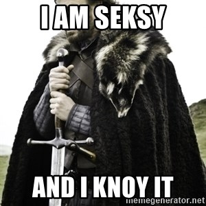 Ned Game Of Thrones - i am seksy and i knoy it