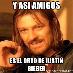 One Does Not Simply - Y asi amigos Es el orto de justin bieber