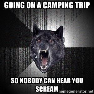 Insanity Wolf - going on a camping trip so nobody can hear you scream