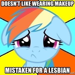 Depression Dash - doesn't like wearing makeup mistaken for a lesbian