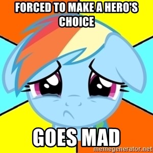 Depression Dash - forced to make a hero's choice goes mad