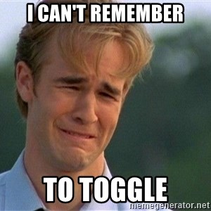 Dawson Crying - I can't remember to toggle
