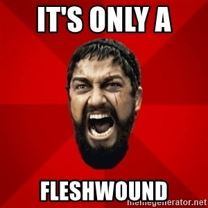 THIS IS SPARTAAA!!11!1 - it's only a  fleshwound