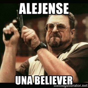 am i the only one around here - alejense una believer