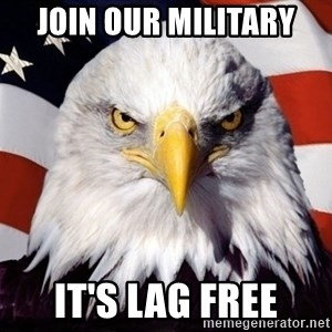 American Pride Eagle - join our military it's lag free