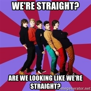 typical 1D - we're straight? are we looking like we're straight?