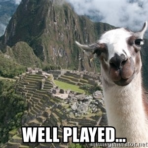 Bossy the Llama - well played...