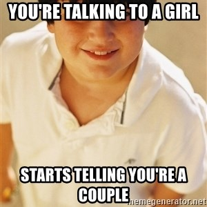Annoying Childhood Friend - YOU'RE talking to a girl Starts telling you're a couple
