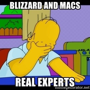 Homer Facepalm - Blizzard and macs real experts