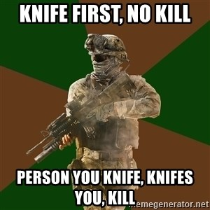 Call Of Duty Addict - knife first, no kill person you knife, knifes you, kill