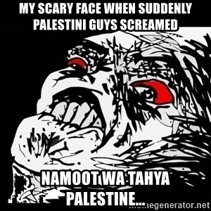 Rage Face - my scary face when suddenly palestini guys screamed namoot wa tahya palestine...