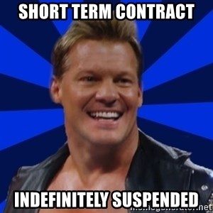 Chris JeriTROLL - short term contract indefinitely suspended