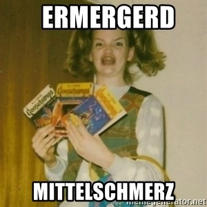 Goosebumps Girl Sings -   ERMERGERD    MITTELSCHMERZ