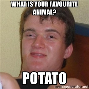 Really highguy - What is your favourite animal? Potato