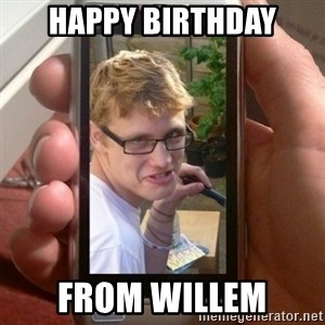 Mobile - Happy birthday from willem