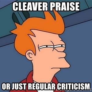 Futurama Fry - Cleaver praise  OR JUSt Regular CRITICISM