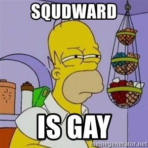 Simpsons' Homer - squdward is gay