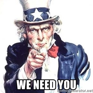 Uncle Sam - we need you