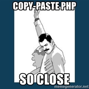 Freddy Mercury - Copy-paste PHP So Close
