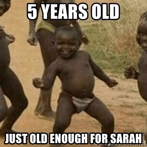 Little Black Kid - 5 YEARS OLD JUST OLD ENOUGH FOR SARAH