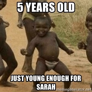 Little Black Kid - 5 YEARS OLD JUST YOUNG ENOUGH FOR SARAH