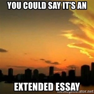 CSI Miami - you could say it's an extended essay