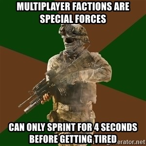 Call Of Duty Addict - MuLtiplayer factions are sPecial forces Can only sprint for 4 seconds before getting tired