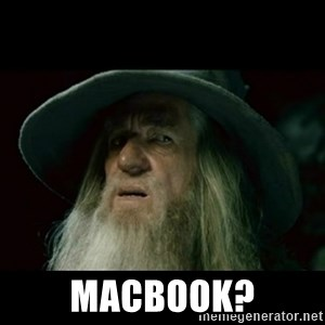 no memory gandalf - MACBOOK?