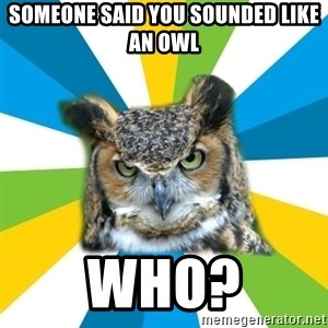 Old Navy Owl - Someone said you sounded like an owl who?