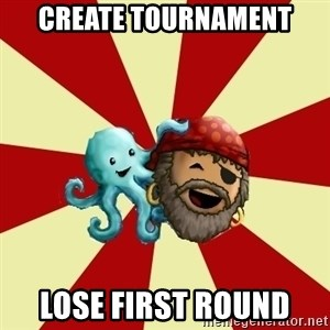 Puzzle Pirate - create tournament lose first round