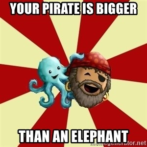Puzzle Pirate - your pirate is bigger than an elephant