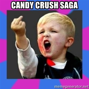 Kid middle finger - CANDY CRUSH SAGA