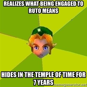 Quest Advice Link - Realizes what being engaged to ruto means hides in the temple of time for 7 years