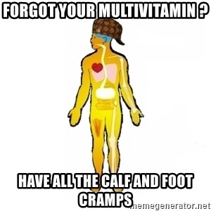 Scumbag Human Body - Forgot your multivitamin ? Have all the Calf and foot cramps