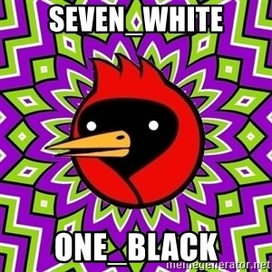 Omsk Crow - Seven_White one_black