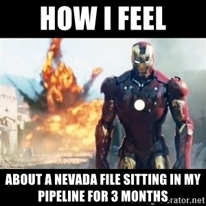 Explosion Iron Man - how i feel about a nevada file sitting in my pipeline for 3 months