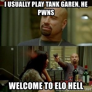 Skin Head John - i usually play tank garen, he pwns welcome to elo hell