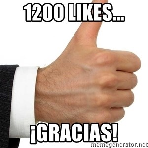 Thumbs Up Smutty Fanfiction - 1200 LIKES... ¡GRACIAS!