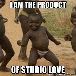 Little Black Kid - I am the product Of Studio love