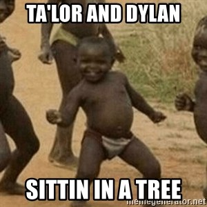 Little Black Kid - Ta'lor and Dylan SIttin in a tree