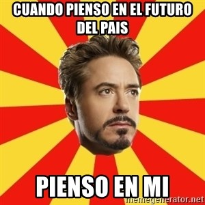 Leave it to Iron Man - cuando pienso en el futuro del pais pienso en mi
