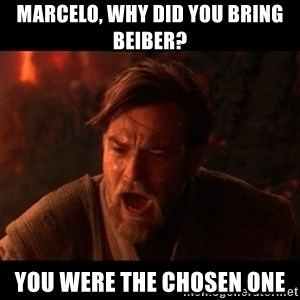You were the chosen one  - marcelo, why did you bring beiber? you were the chosen one