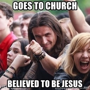 Ridiculously Photogenic Metalhead Guy - Goes to church Believed to be Jesus
