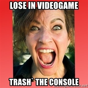 insanity girlfriend - lose in videogame trash` the console