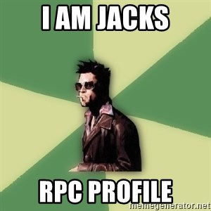 Tyler Durden - I am Jacks RPC Profile