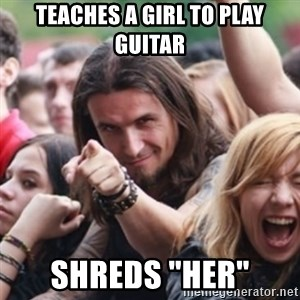 "Ridiculously Photogenic Metalhead - teaches a girl to play guitar Shreds ""Her"""