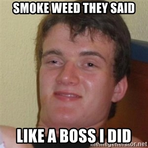 Stoner Stanley - Smoke weed they said like a boss I did
